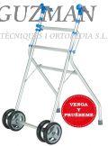 Andador aluminio ruedas delanteras