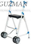 Andador aluminio ruedas delanteras y asiento