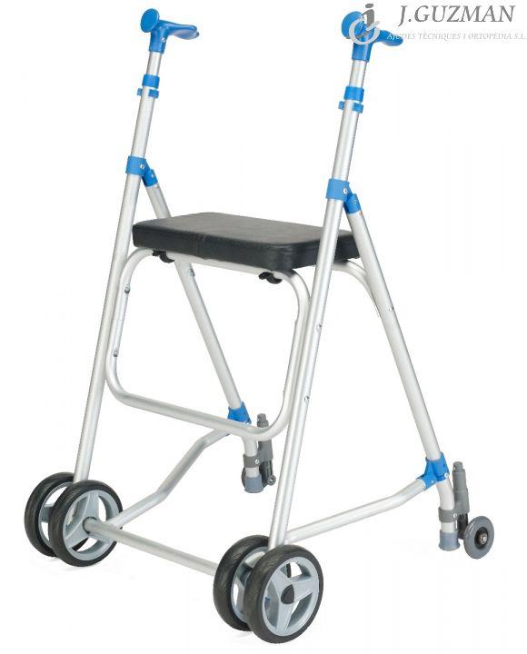 AndaRoller aluminio ruedas delanteras y traseras con asiento