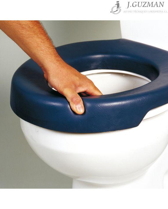 Asiento elevador de WC blando «BLUE»