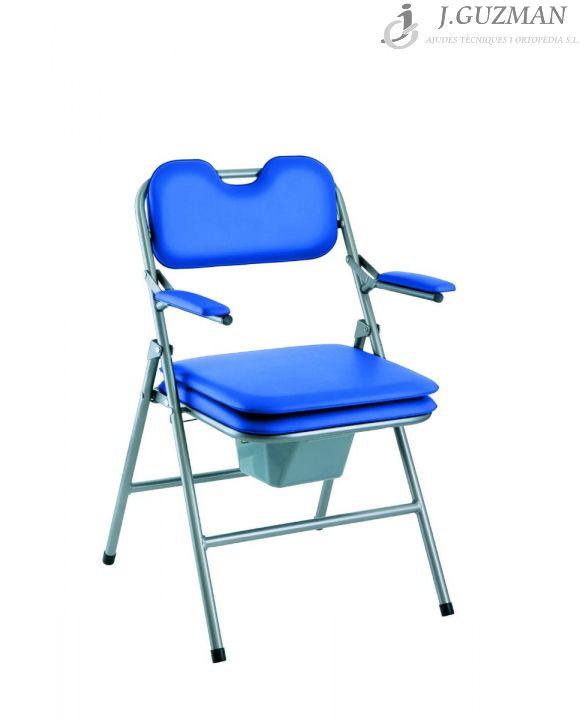 Silla WC «OMEGA PLEGABLE» Azul