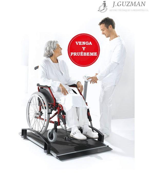 Báscula con plataforma para silla de ruedas
