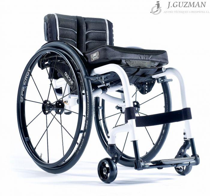 silla de ruedas de aluminio plegable respaldo fijo quickie