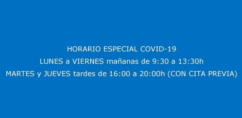HORARIO ESPECIAL FASES COVID-19